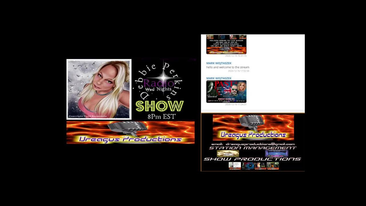 DREAGUS PRODUCTIONS WEDNESDAY RADIO SHOWS raw on 16-Dec-20-18:00:16