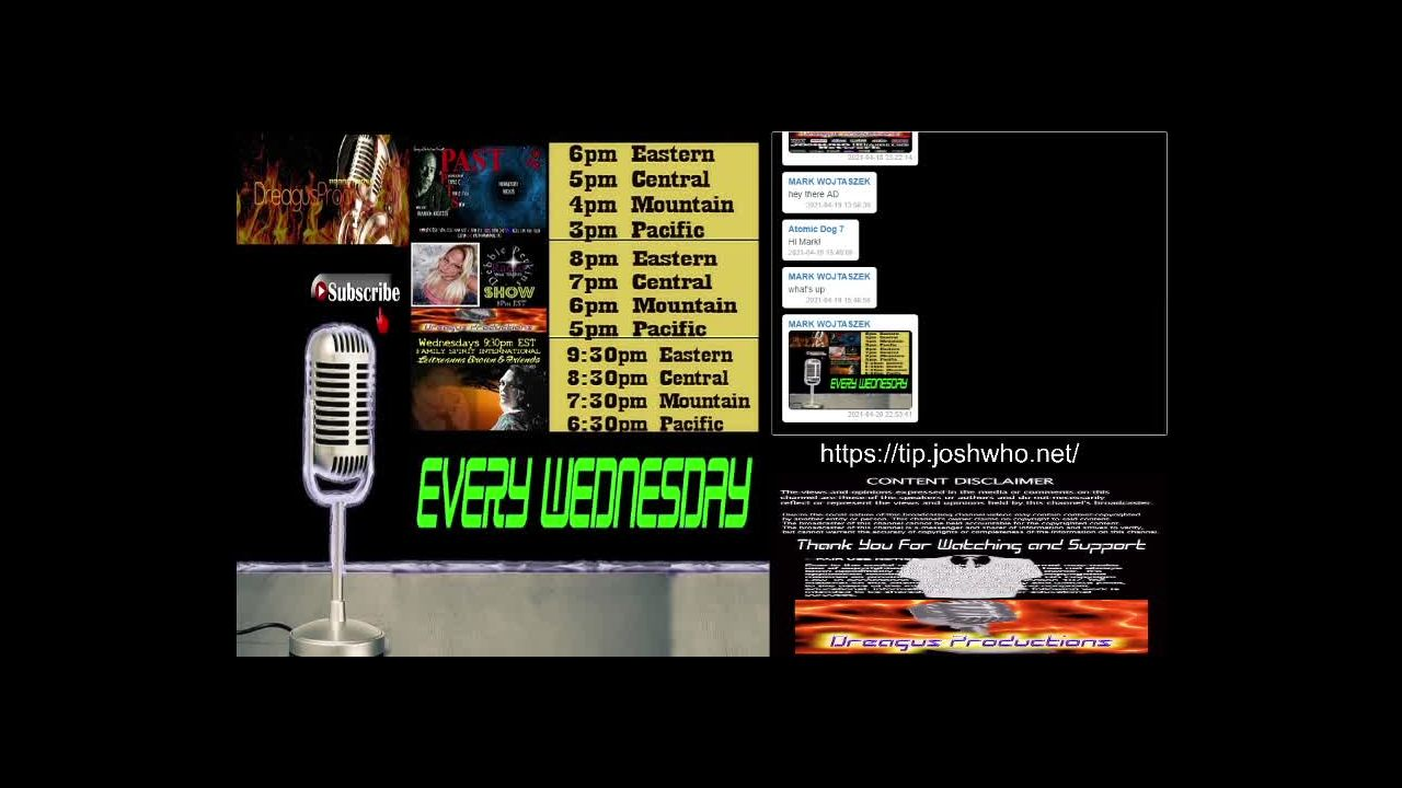 DREAGUS PRODUCTIONS WEDNESDAY SHOWS raw on 21-Apr-21-16:48:47