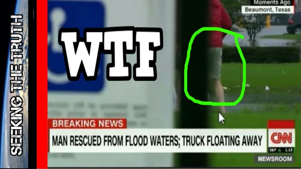 CNN Caught Staging Flood Rescue In Texas - Fake Rescue Hurricane Harvey