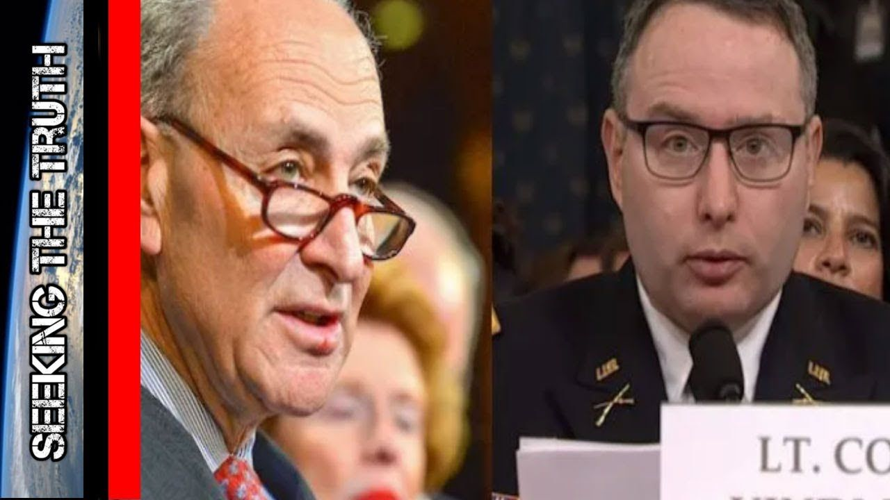 Chuck Schumer Outs Lt. Vindman as One of the Whistleblowers - Giuliani Obama Pay-To-Play Scheme