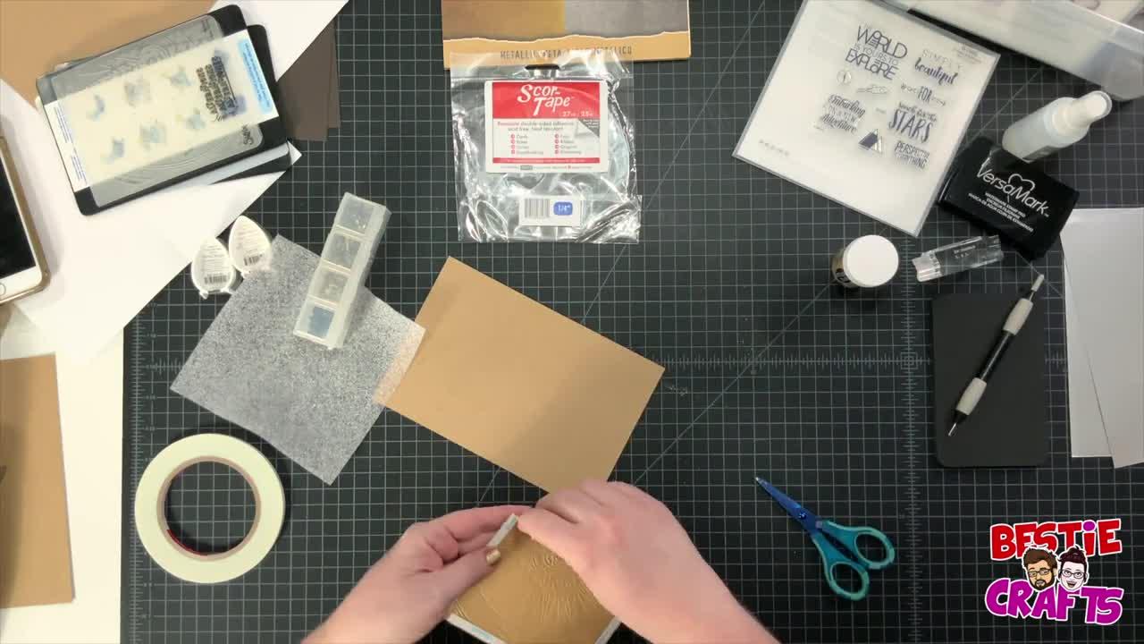 Bestie Crafts - Metallic Manly Man Compass Card making Tutorial