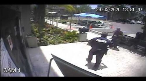WATCH: Woman attacks police officer outside Temple Terrace City Hall