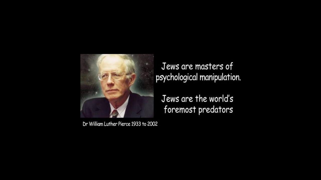 Dr William Luther Pierce 16 May–18 July 1998 Holocaust Hitler, Gangster Rap, Jewish control of Afric