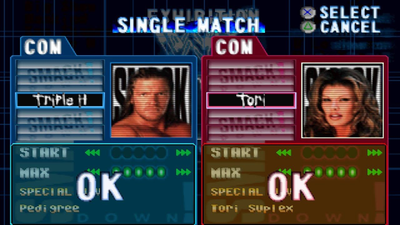 WWF Smackdown! Triple H vs Tori